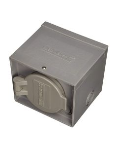 30 amp 125/250V Raintight Power Inlet Box with Spring-Loaded Flip Lid